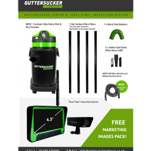 Guttersucker Junior and real time camera package pack shot