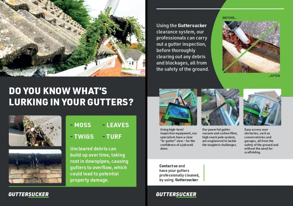 Gutter Cleaning Leaflets
